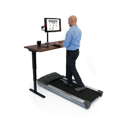 iMovR Energize Treadmill Desk Workstation 3D View Standing Facing Left