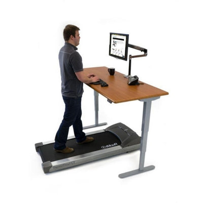 iMovR Energize Treadmill Desk Workstation 3D View Standing Facing Right