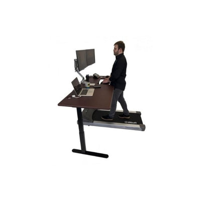 iMovR Lander Treadmill Desk With SteadyType Keyboard 3D View Standing