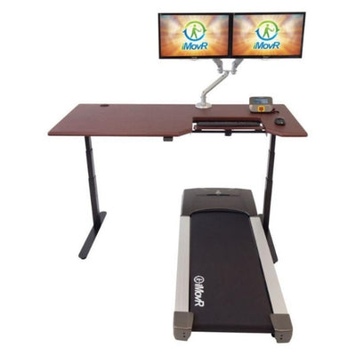 iMovR Lander Treadmill Desk With SteadyType Keyboard Front View