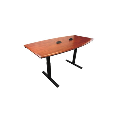 iMovR Synapse Boat Adjustable Height Conference Table Black Base