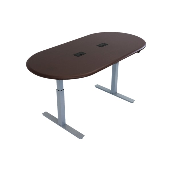 iMovR Synapse Racetrack Adjustable Height Conference Table Gray Base