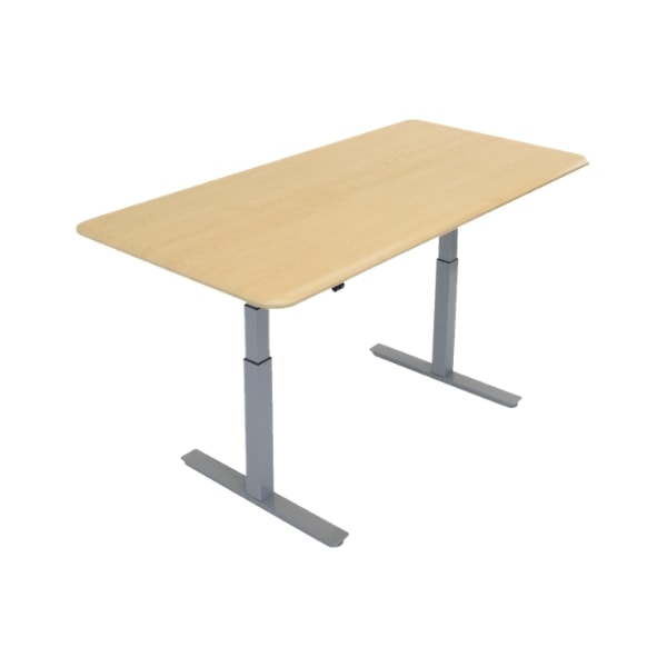 iMovR Synapse Rectangle Adjustable Height Multi Purpose Table 3D View Gray Base