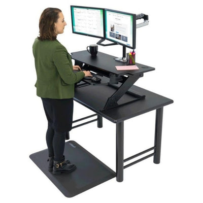 iMovR ZipLift HD 42 inch Standing Desk Converter 3D View Facing Left