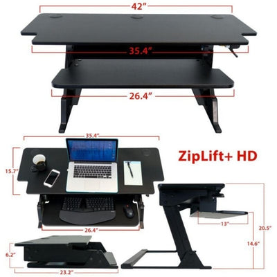 iMovR ZipLift HD 42 inch Standing Desk Converter Dimensions