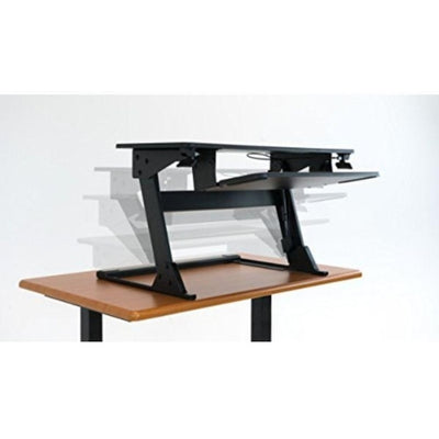 iMovR ZipLift+ Standing Desk Converter Height Setting On Table