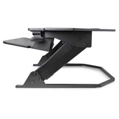 iMovR Ziplift+ Corner Standing Desk Converter Keyboard Tray Tilt Up