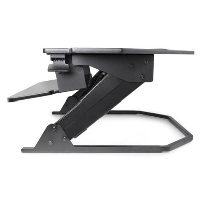 iMovR Ziplift+ Corner Standing Desk Converter Keyboard Tray Tilt Down