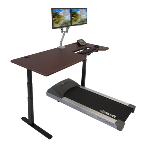 iMovr Lander Treadmill Desk With SteadyType Keyboard 3D View