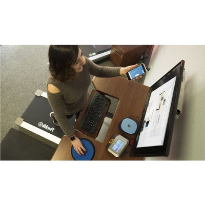iMovr Lander Treadmill Desk With SteadyType Keyboard Top View