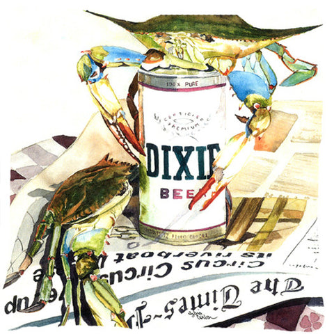 Dixie-Beer--Canvas-Fabric-Decorative-Pillow