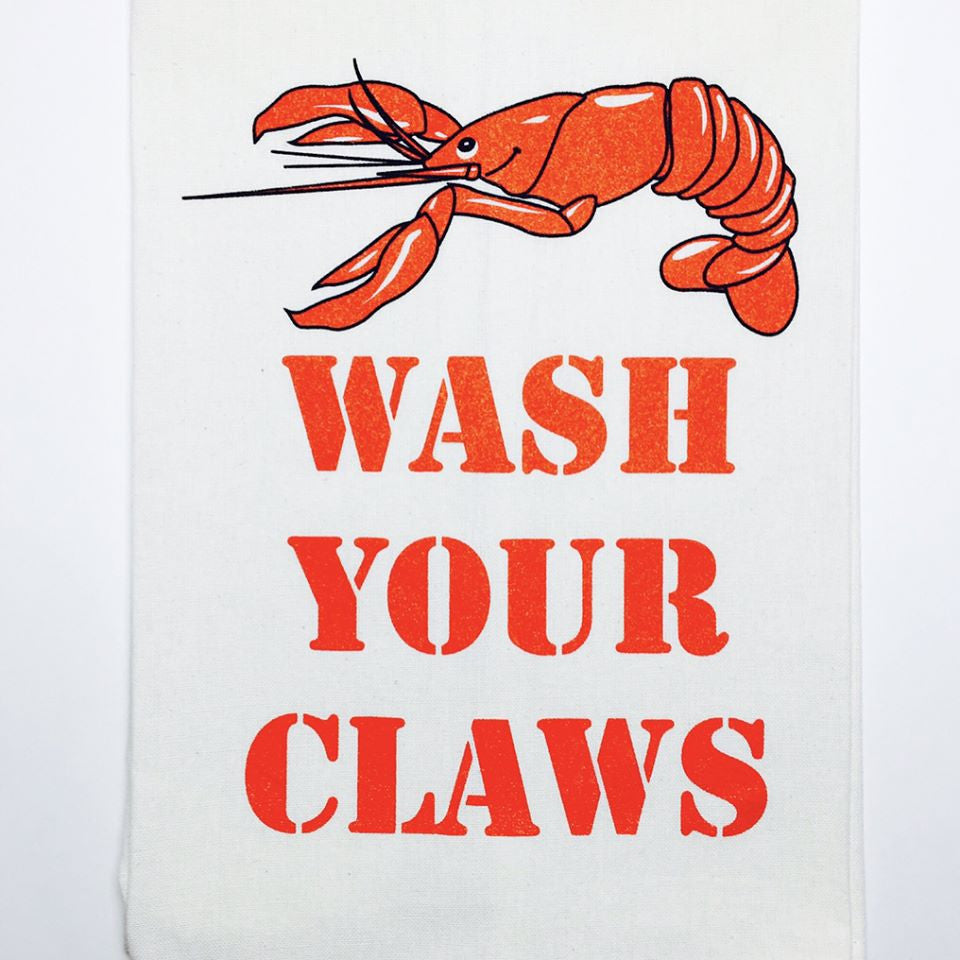 Wash Your Claws Crawfish Kitchen Towel
