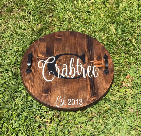 Customized Wooden Tray - A Wonderful Wedding Gift