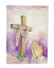 Easter Cross with Praying Hands Flag Garden Size
