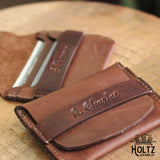 The Babe Personalized Fine Leather Front Pocket Wallet