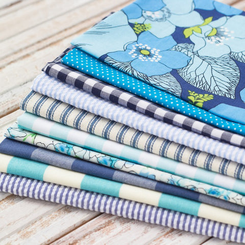 Blue Bundle Set of 10 Cloth Napkins