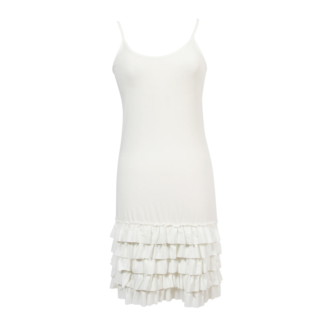 Delicious Frilly Strap Slip | White