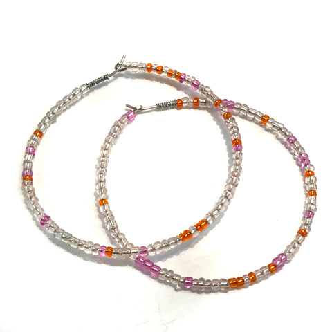 HALO Beaded Hoop Earrings - Lazy Sunday