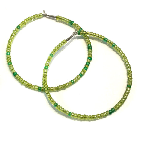 HALO Beaded Hoop Earrings - Alligator Stomp