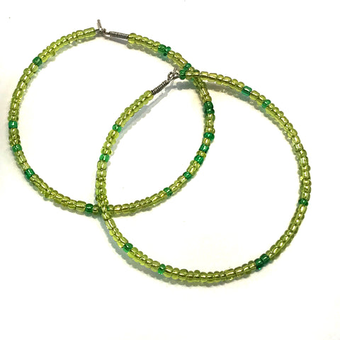 HALO Beaded Hoop Earrings - Irish Celebration