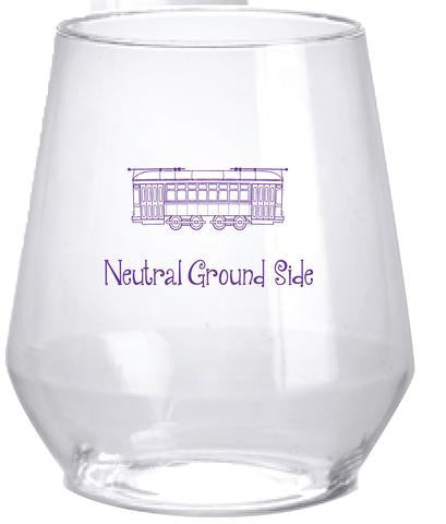 Neutral Ground Side Stemless Wine Glasses - Set of 6