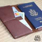 The Pioneer Fine Leather Passport Wallet