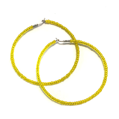 HALO Beaded Hoop Earrings - You Are My Sunshine