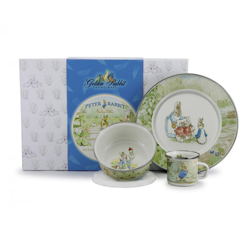 Child's Enamel Dish Gift Set