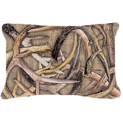 Deer Antlers Canvas Fabric Decorative Pillow