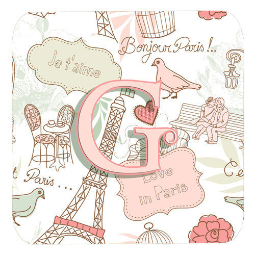 Love in Paris Foam Coaster - Set of 4