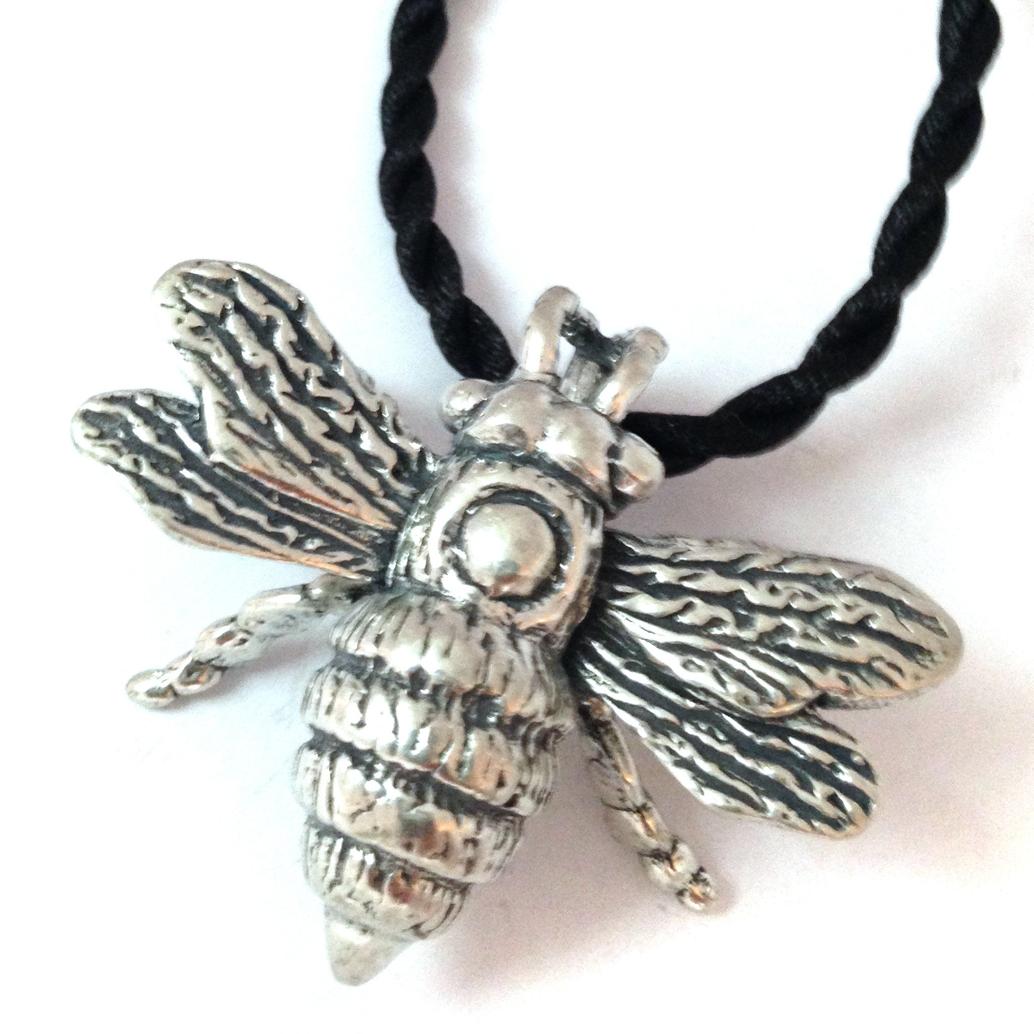 gift ceramic honey bee pendant bees blue denim unique pin ideas
