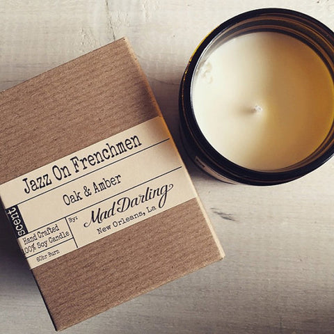 Jazz on Frenchmen - Oak & Amber Soy Candle