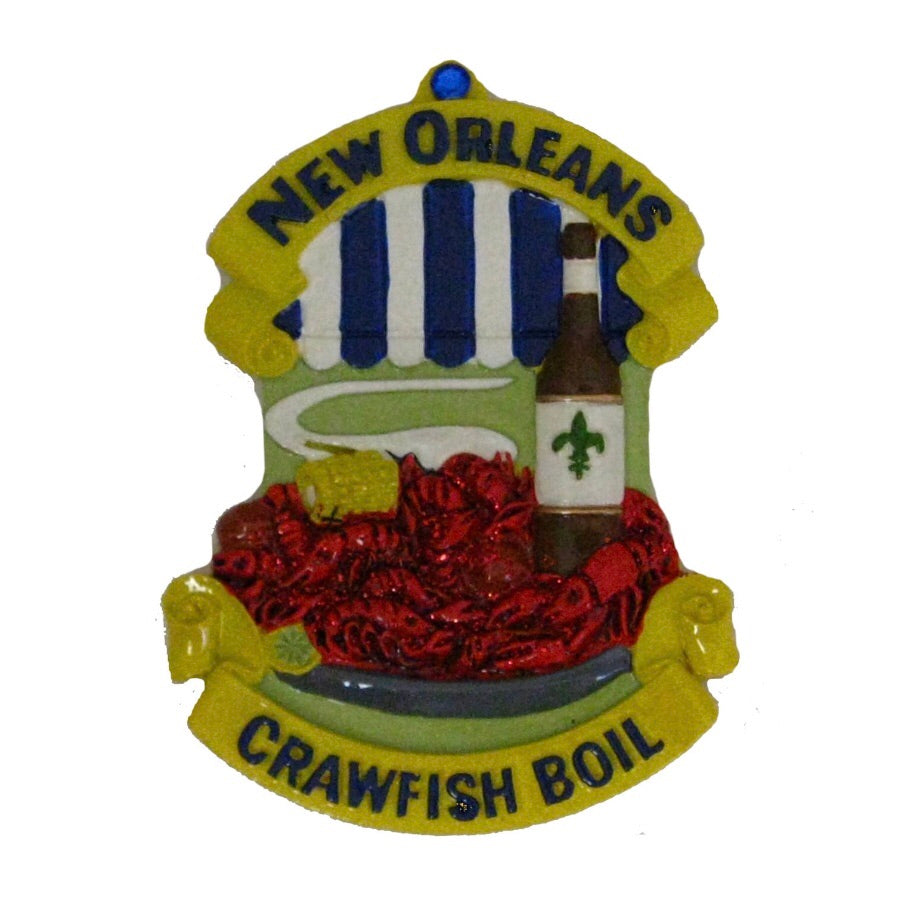 New Orleans Crawfish Boil Christmas Ornament