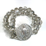 Double row St Benedict Stretch Bracelet