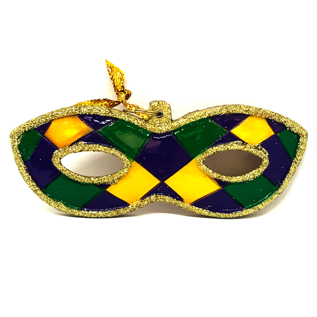 Mardi Gras Harlequin Mask Christmas Ornament
