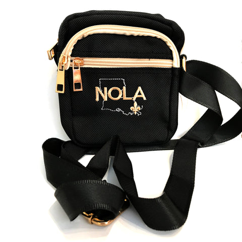 NOLA Black Crossbody Bag - Stadium Approved