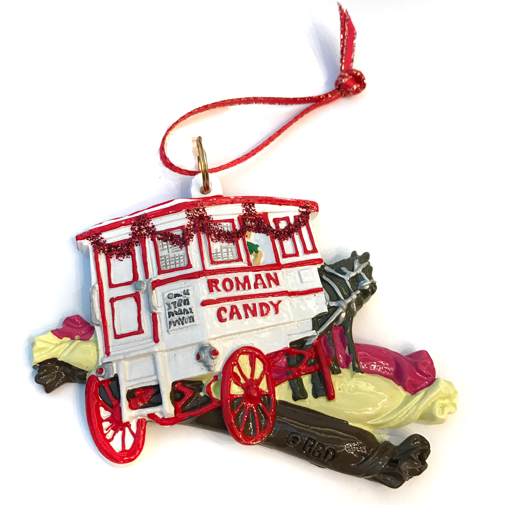 New Orleans Christmas Roman Candy Ornament