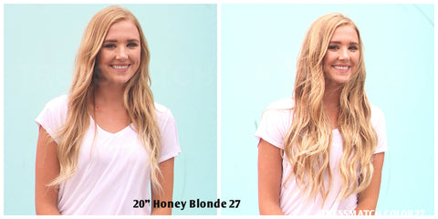 Tressmatch Honey Blonde Highlights Clip in Remy Hair Extensions