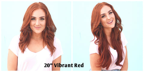 tressmatch vibrant red clip in human hair extensions remy clip in