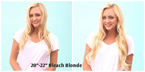 Tressmatch Light Blonde Remy Hair Extensions Clip in