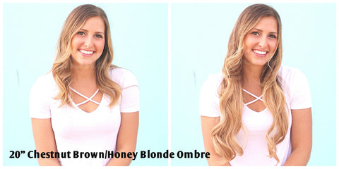Tressmatch Remy Clip in Human Hair Extensions Honey Blonde Ombre