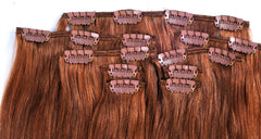 Tressmatch Red Remy Human Hair Extensions Clip in