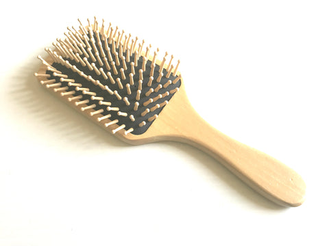wooden bamboo bristle cushion brush comb
