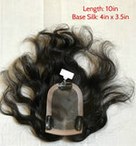 Clip on Hand-sewn Top Hairpiece For Hair Thinning/loss