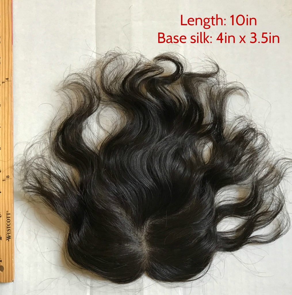 Hand Sewn,Mono Top Base Hairpiece,toupee for women,hand made hairpiece, human hair top hair piece,clip in, clip in toupee,clip on toupee,hair loss remedy,thin hair remedy