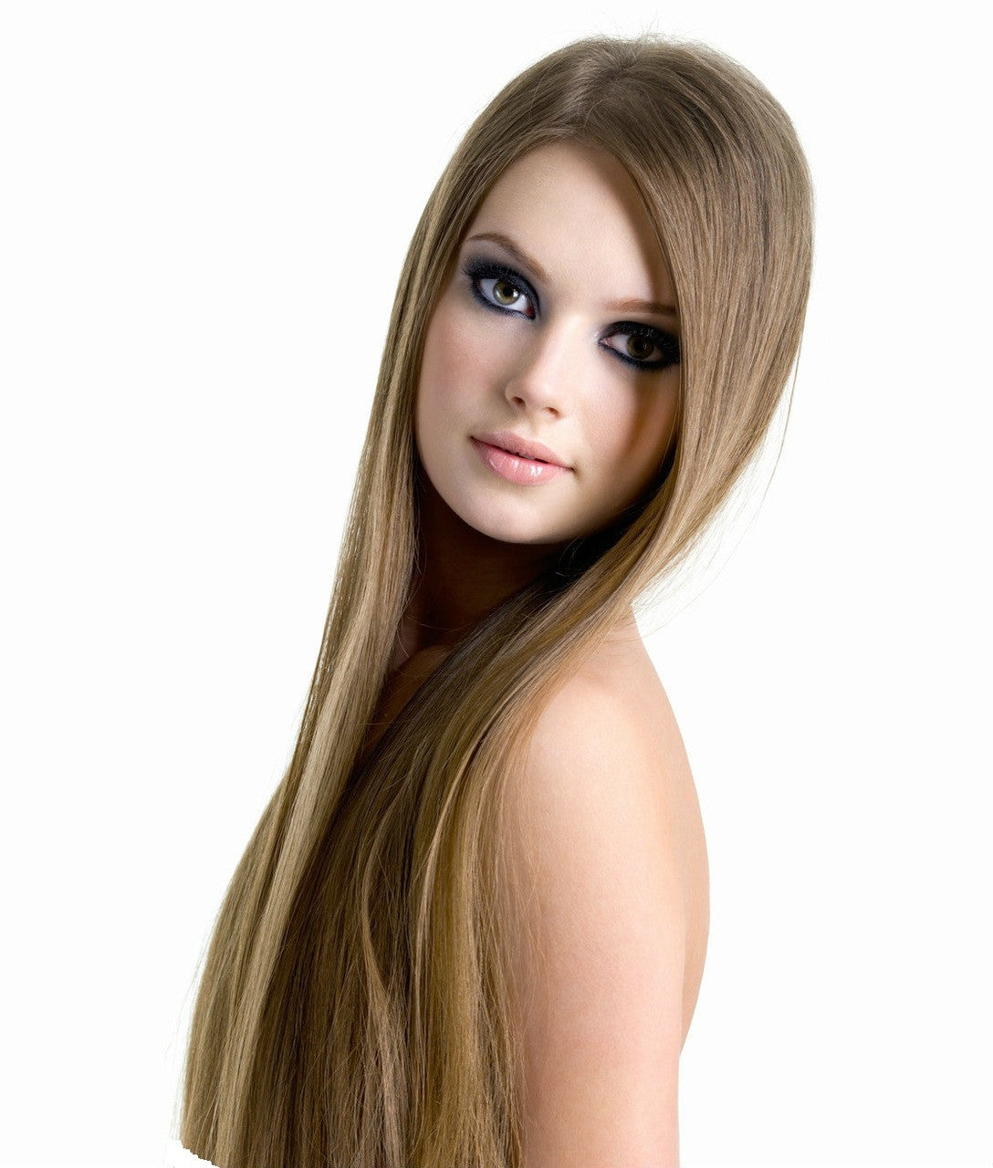 16 18 Light Ash Brown Remy Human Hair Extensions Clip In Thick
