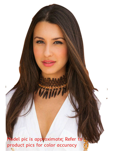 brunette with brown highlights hair extensions clip in human hair remy