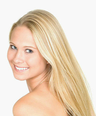 "20"" Ginger Blonde Highlights Hair Extensions Clip in"