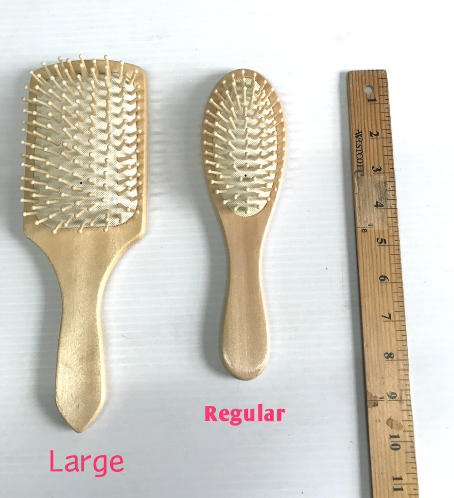 Natural Wood Detangle Cushion Massage Pin Brush