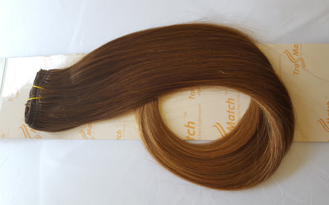 "Ombre 18""-20"" Chestnut Brown to Copper Brown"